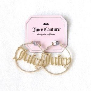 "Juicy Couture ""Juicy"" Hoop Earrings"